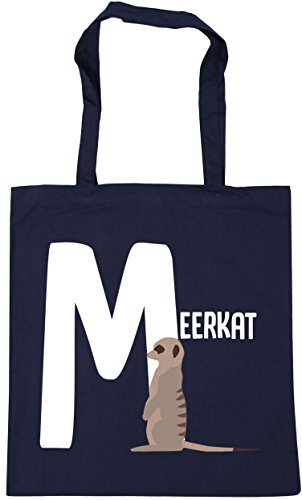 meerkat M alphabet 42cm Bag is Tote litres Shopping animal x38cm Beach French Gym for 10 HippoWarehouse Navy xUqRFwR