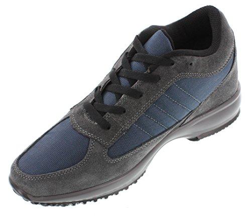 Calden FD0127,6cm Größer Die Höhe Steigerung Aufzug Schuhe (Wildleder Schnürer Sneakers, Knöchelfrei Sneakers)