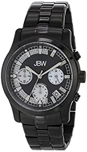 "JBW Women's JB-6217-H ""Alessandra"" Black Ion Chronograph Diamond Watch"