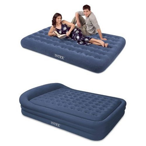 Intex Comfort Frame Rising Comfort Queen Airbed with hand held A/C pump, Outdoor Stuffs