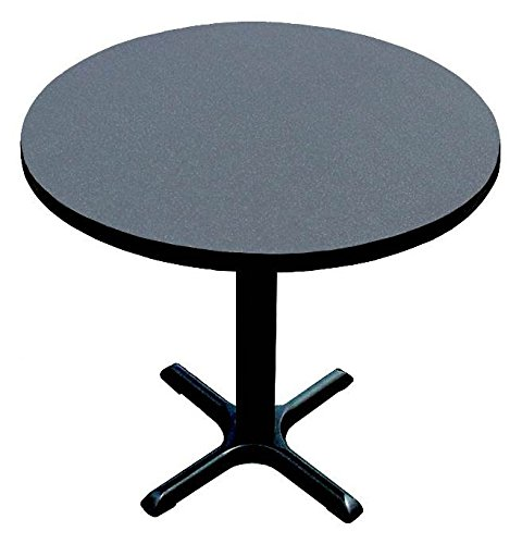Table Base Cafe (Correll BXT24R-07 Black Granite Top and Black Base Round Bar, Café and Break Room Table, 24