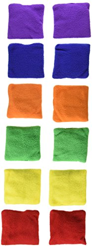 Sportime Fleece Beanbags, 4 Inches, Set of 12