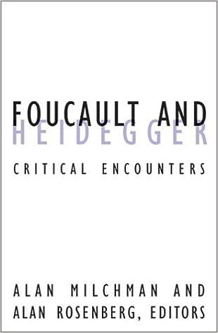 Foucault And Heidegger: Critical Encounters (Contradictions)