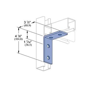 Genuine Unistrut P1325-EG 4 Hole 90 Degree Angle Connector Bracket for All  1-5/8