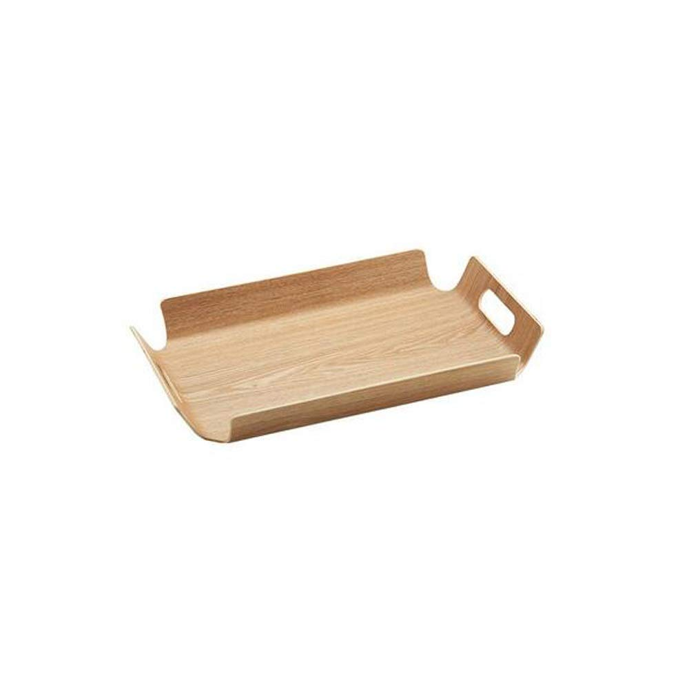 Dining Room Kitchen Serving Tray ,Food Serving Tray With Double Handles, Rectangle Simple Serving Tray, Breakfast Bed Trays--Fast Food Tray,Environmentally Friendly Bamboo Material ( Size : 4433 )