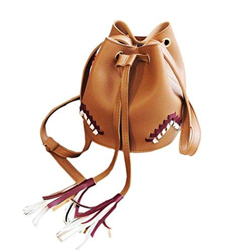Bandolera Bolso Por Mujer Bolsos Para De Mano Niñas B Baratos marrón Pequeña De Piel De Marron ESAILQ 6YwHwgPqd