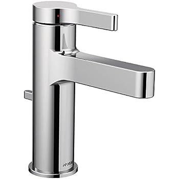 Moen 6702 genta high arc single handle bathroom faucet - Moen chrome bathroom sink faucets ...