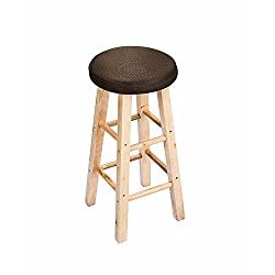 "12"" Round Bar Stool Cover, Full Edges Covering, with 2cm Padding, Proctect or Renew Your Stools Chairs"