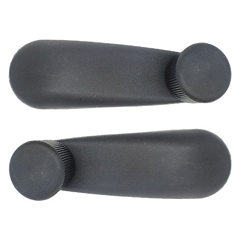 Window Crank Handle Lever Pair - Left Driver and Right Passenger Side - - Sierra Gmc Mpg 2003