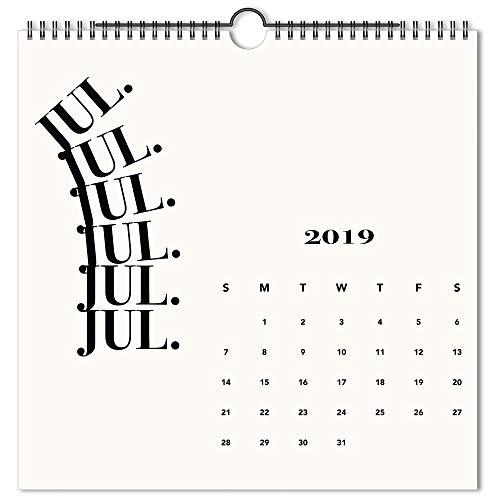 Emily + Meritt 2019-2020 Academic Year Monthly Wall Calendar, Medium, 12