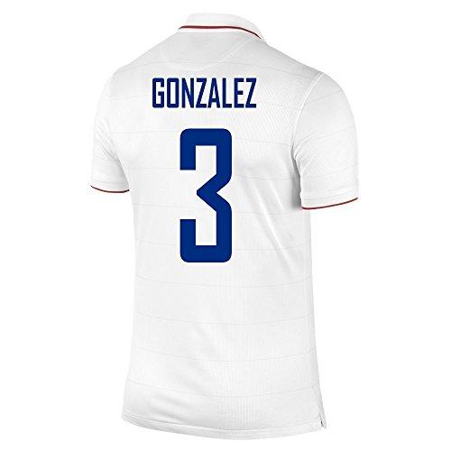 勧める有毒な社会科NIKE GONZALEZ #3 USA Home Jersey 2014-15/サッカーユニフォーム アメリカ ホーム用 背番号3 ゴンサレス 2014-15