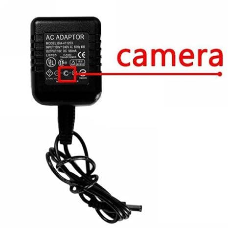 Cámara espía adaptador de corriente AC/DC con mando a distancia - 4 GB: Amazon.es: Informática