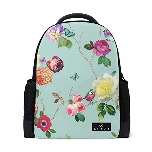 - Backpack CHARMED FLOWER BIRD BUTTERFLY ROSE Mens Laptop Backpacks Shoulder Hiking Daypack