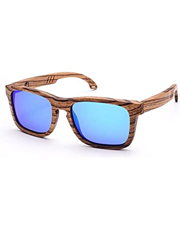 9b5122efa08 SKADINO JUSTIN Wood Sunglasses with Polarized lenses-Handmade Wood Shades  for Men Women-Zebra Wood