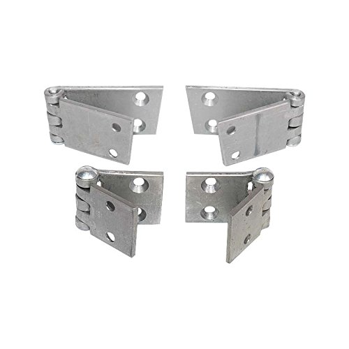 MACs Auto Parts 28-22549 Model A Front Door Hinge Set - Open Car - Roadster & Phaeton - 2 Hole Bottom Hinge (1928 Ford Model A Roadster)