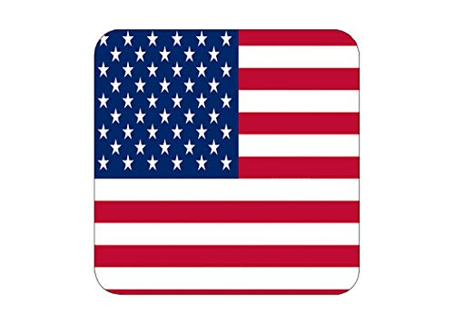 Patriotic USA Flag Drink Coaster Set Gift United States of America Home Kitchen Bar Barware Old Glory