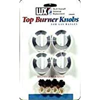 KNOB OVEN GAS WHITE 4PK by LUX MfrPartNo CPR-409 by Lux