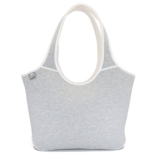 Cool Everyday Shoulder Bag for Women (Lightgrey) | Insulated Neoprene | Works Great As Baby Diaper Bag, Shopping, Beach, Swim Or Lunch Bag | Cool | Washable | Travel Friendly | Durable | Soft by Nordic By Nature