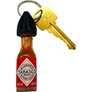 Tabasco Hot Sauce Keychain (Real Bottle of Tabasco)