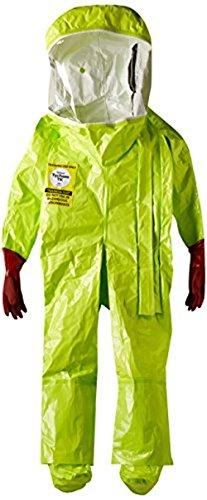 Dupont TK586TLYXL000100 EncapTrainSuit, Expanded Back, Front Entry, Taped Seams, X-Large, Lime Yellow by DuPont (Image #4)