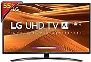 "Smart TV LG 55"" 55UM7470PSA UHD 4K IPS HDR Ativo ThinQ AI Inteligência Artificial, DTS Virt"