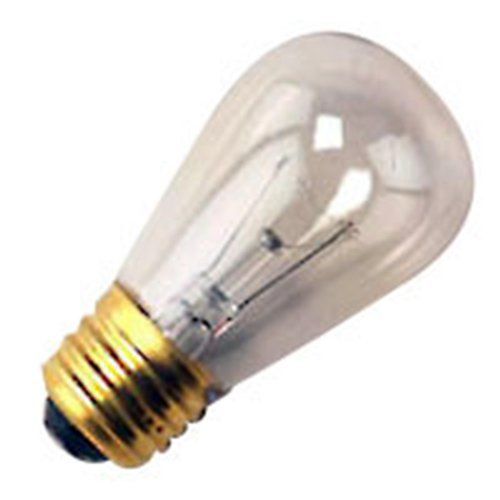25 Qty. Halco 11W S14 CL 130V Halco S14CL11 11w 130v Incandescent Clear Lamp ()