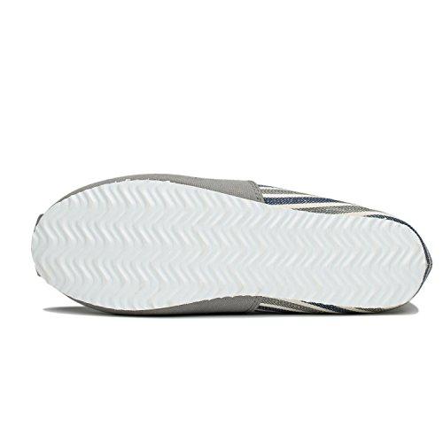 Comfortabele Platte Schoenen Voor Heren En Dames, Klassieke Casual Canvas Slip Op Platte Grijze Strepen