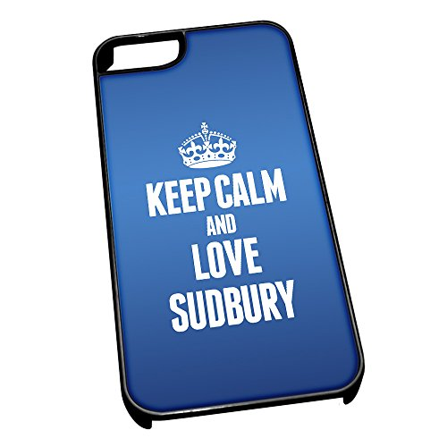 Nero cover per iPhone 5/5S, blu 0625 Keep Calm and Love Sudbury