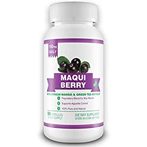 100% Pure Maqui Berry Extract Supplement - 1 Month Supply - 150mg Daily