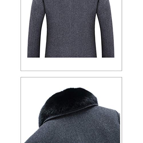 En long Rlrl Moyen Détachable Et D'automne Darkgray Confortable Chaud Col Fourrure Manteau D'hiver RxxX0wfq
