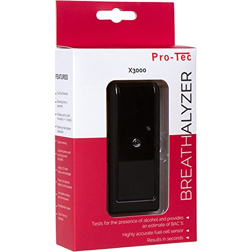 Pro-Tec X3000 Professional Breathalyzer, Portable Breath Alcohol Tester