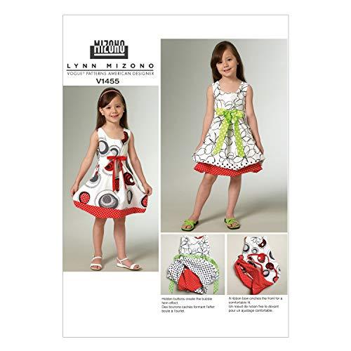 (Vogue Patterns V1455 Children's/Girls' Dress, Size CL (6-7-8))