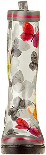 Beck Damen Gummistiefel multicolor 50 Schmetterling Mehrfarbig xfvqw68x
