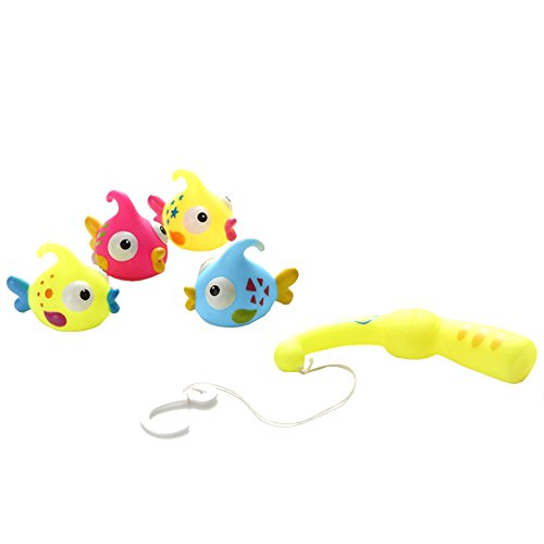 5 Pcs Baby Swimming Bath Toys Bubble Fish Toy Set Shower Gift for Kid