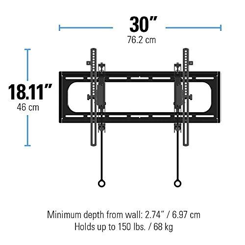 """415BOueKG7L - Sanus Advanced Tilt Premium TV Wall Mount Bracket for 46"""" – 90"""" flat-panel TVs - Extends 5.7"""" from the Wall - VLT6-B1"""