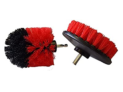 Bring It On Cleaner Drill Brush Set, Best Tile and Grout Cleaner, Remove Grout Stains, Attach to any Household Drill for Extra Power Scrubbing, Clean Showers and Tubs with Ease