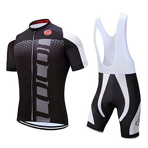 Pro Team Men's Cycling Jersey Bib Shorts With 3D Padded (Chest 36-38