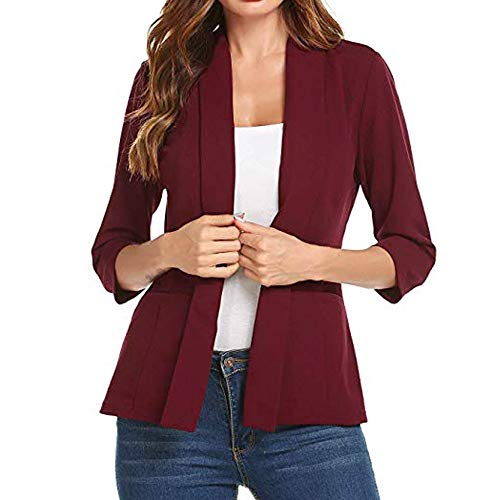 (Women's Gorgeous Jackets,KIKOY Ladies Long Sleeve Lace Blazer Suit Casual)