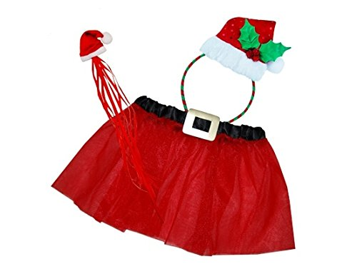 Christmas Girls Headband Dress Fairy Party Supplies Costume Wizzle Up and Tutu Wand with EqwTtv