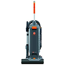 Hoover Commercial HushTone Upright Vacuum Cleaner, 15 inches with Intellibelt, Gray