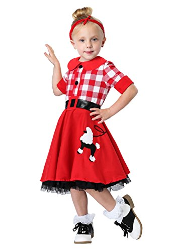 50s Darling Toddler Costume 2T Red