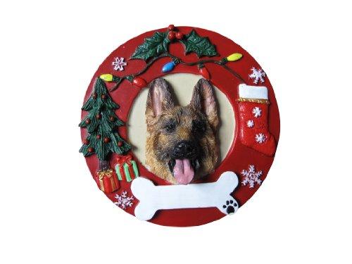 E&S Pets German Shepherd Personalized Christmas Ornament