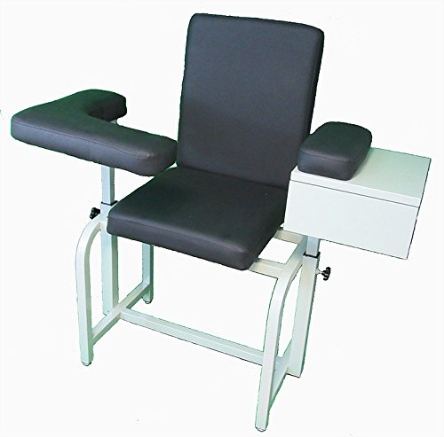 (Premium Phlebotomy Blood Drawing Chair with Padded Seat & Drawer)