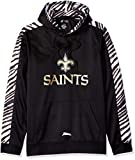 Zubaz Men's New Orleans Saints, Pullover Hood, Large