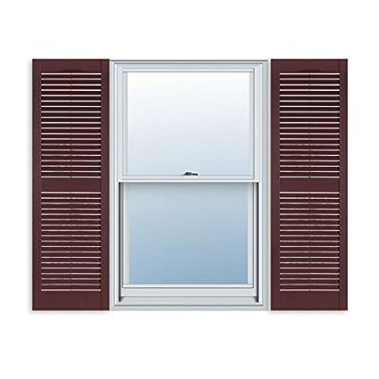 Amazon 15 Inch X 63 Inch Standard Louver Exterior Vinyl Window