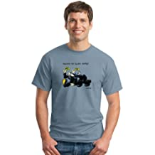Keep On Truckin' Apparel, Truckin My Blues Away, Men's Cotton Short Sleeve T-shirt, an R. Crumb image