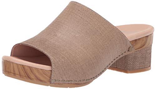 Price comparison product image Dansko Women's Maci Slide Sandal Taupe Textured Leather 40 M EU (9.5-10 US)