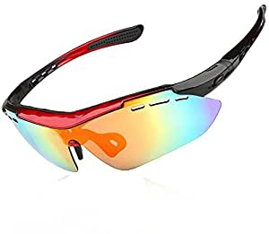 kenor polarizadas gafas de sol deportivas con juego de 5Lentes Intercambiables para Ciclismo Pesca Running conducción Golf Béisbol