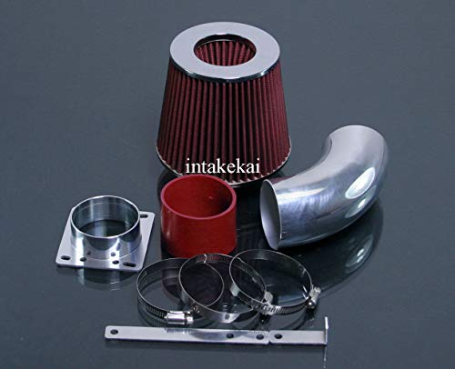 PERFORMANCE AIR INTAKE KIT + FILTER FOR 1992-1995 BMW E36 318 318i 318is 318ti L4 1.8 1.8L 4Cyl ENGINE (RED)