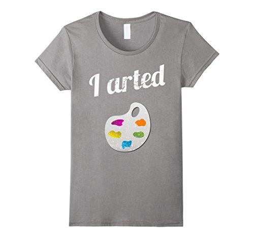 Womens I arted T Shirt Large Slate
